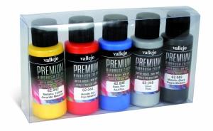 Vallejo 62103 Zestaw Premium RC Color 5 farb - Metallics