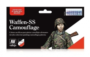Vallejo 70180 Zestaw Model Color 8 farb - Waffen-SS Camouflage Set