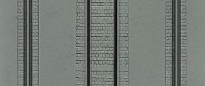 Płytka modelarska 20x12 cm - Ulica brukowana z torami