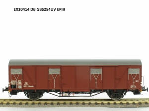 Exact-Train EX20414 Wagon towarowy kryty Glmmehs 61 uv, DB, Ep. III