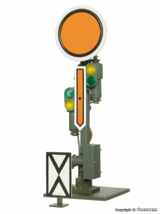 Viessmann 4510 H0 Semafor z tarczą ostrzegawczą Vr0, Vr2