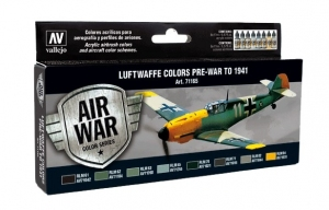 Vallejo 71165 Zestaw Air War 8 farb - Luftwaffe Pre-War to 1941
