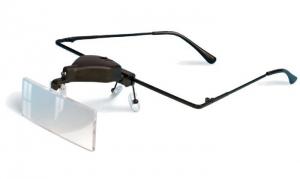 Okulary powiększające z lampką led i wymiennymi soczewkami