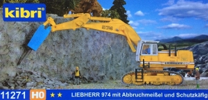 Kibri 11271 H0 Koparka Liebherr 974 z młotem pneumatycznym