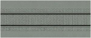 Kibri 34125 Płytka modelarska 20x12 cm - Ulica brukowana z torami