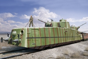 Hobby Boss 85515 Radziecki pociąg pancerny MBV-2 (działo F-34) 1:35
