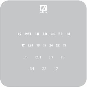 Vallejo ST-AFV003 Szablon Soviet Numbers WWII, 1:35