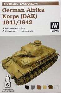 Vallejo 78409 AFV Camouflage System: German Afrika Korps 1941-1942 (DAK)