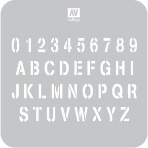 Vallejo ST-LET002 Szablon Stamp Font, 1:35