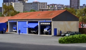 Hala garażowa dla pojazdów ciężarowych