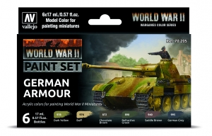 Vallejo 70205 Zestaw World War II 6 farb - German Armour