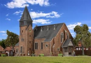 Kibri 39766 H0 Kościół z kamiennym murem