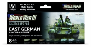 Vallejo 70224 Zestaw World War III 6 farb - East German Armour & Infantry
