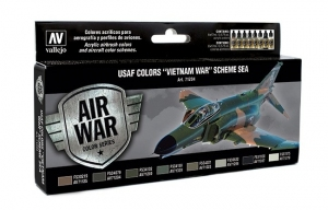Vallejo 71204 Zestaw Air War 8 farb - USAF Colors Vietnam War Scheme South East Asia