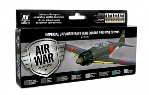 Vallejo 71169 Zestaw Air War 8 farb - Imperial Japanese Navy (IJN) Colors Pre-War to 1945