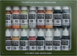 Vallejo 70107 Zestaw Model Color 16 farb - WWII Alemán