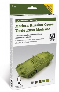 Vallejo 78408 AFV Painting System: Modern Russian Green