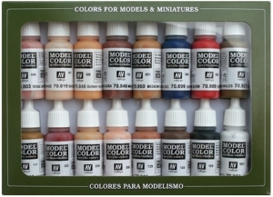Vallejo 70125 Zestaw Model Color 16 farb - Face & Skin Colors