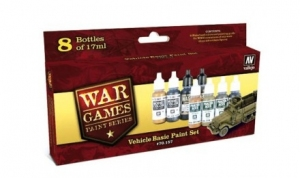 Zestaw WWII Wargames 8 farb - Vehicle Basic