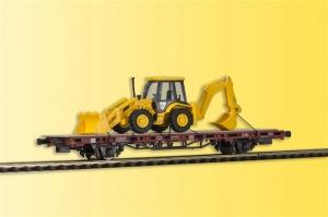 Wagon platforma z koparko-ładowarką JCB 4CX