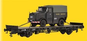Wagon platforma z ciągnikiem Kaelble