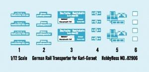 Hobby Boss 82906 German Rail Transporter for Karl-Geraet - 1:72