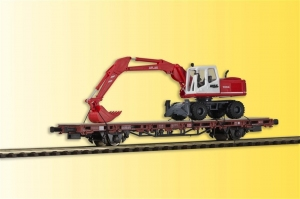 Kibri 26258 Wagon platforma z koparką Atlas 1604