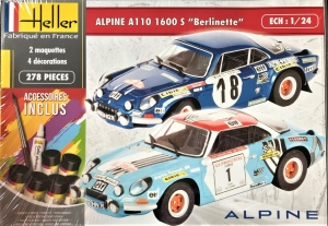 Heller 85745 Starter Set - Alpine A110 1600S Berlinette - 1:24