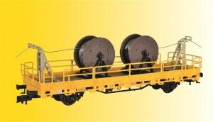Kibri 26266 Wagon platforma z osprzętem do sieci trakcyjnej GleisBau