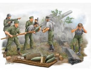 Trumpeter 00425 Figutki - Niemieccy artylerzyści, obsługa haubicy polowej s.FH 18 - 1:35