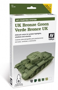 Vallejo 78407 AFV Painting System: UK Bronze Green