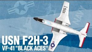 USN F2H-3 VF-41 Black Aces 1:72
