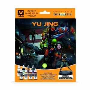 Vallejo 70235 Zestaw Infinity Exclusive 8 farb + figurka Yu Jing