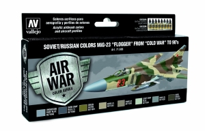 Vallejo 71606 Zestaw Air War 8 farb - Soviet / Russian colors Mig-23 Flogger from 70 to 90