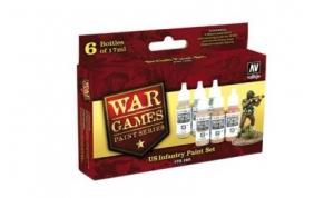 Zestaw WWII Wargames 6 farb - US Army