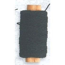 Lina bawełniana czarna 0,75 mm, 20 m