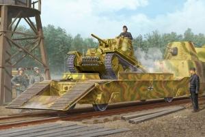 Trumpeter 01508 Wagon podczołgowy z niemieckiego pociągu pancernego BP-42 - 1:35