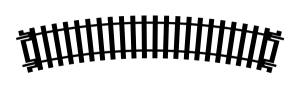 Tor łukowy R2, R438 mm, 22,5st.