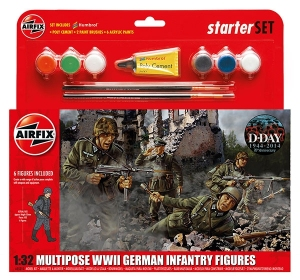 Airfix A55210 Starter Set - WWII German Infantry Multipose 1:32