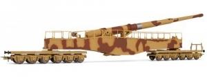 Rivarossi HR6452 Działo kolejowe Leopold K5 (brązowo-beżowy kamuflaż), DRB, Ep. II