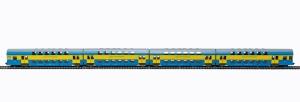 Rivarossi HRS4238 Czterowagonowy zespół piętrowy serii Bhp, st. Chojnice