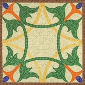 Aedes Ars 5510 Mozaika 300x300 mm - Wzór roślinny