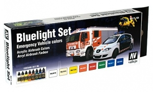 Vallejo 71154 Zestaw Model Air 8 farb - Bluelight Set