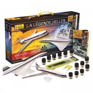 Heller 52324 Starter Set - La Legende: Concorde + Caravelle + książka - 1:100