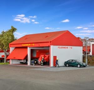 Kibri 38542 H0 Straż pożarna - Garaż na dwa pojazdy