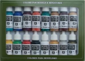 Vallejo 70142 Zestaw Model Color 16 farb - Medieval Colors