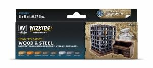 Vallejo 80256 Zestaw Wizkids Premium 8 farb - Wood & Steel