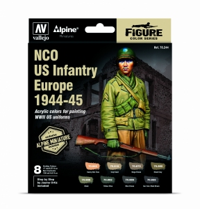 Vallejo 70244 Model Color Zestaw 8 farb - NCO US Infantry Europe 1944-45