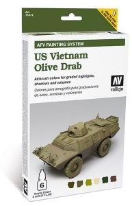 Vallejo 78412 AFV Painting System: US Vietnam Olive Drab