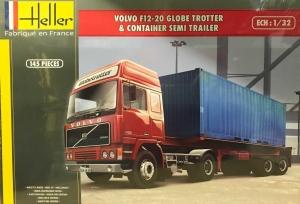 Heller 81702 Volvo F12-20 GlobeTrotter z naczepą kontenerową - 1:32